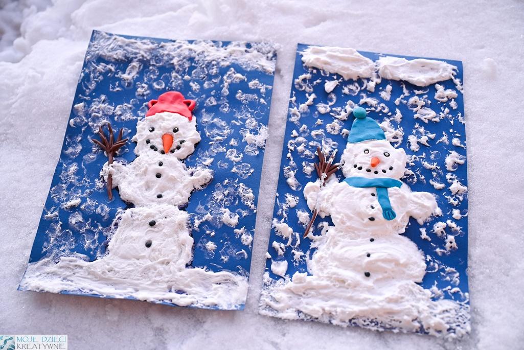 zimowe prace plastyczne, praca plastyczna zima