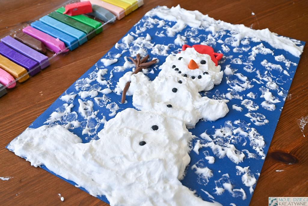 prace plastyczne zima, pomysły na zimowe prace plastyczne