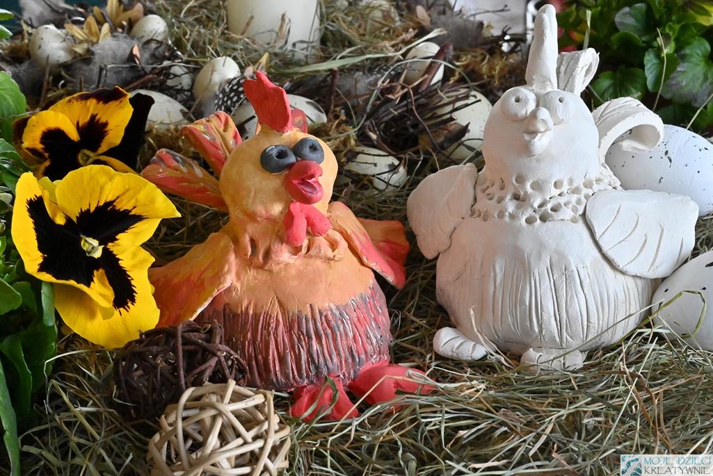 jak ulepić kurę, kura wielkanocna, praca plastyczna kura, kurczaki wielkanocne