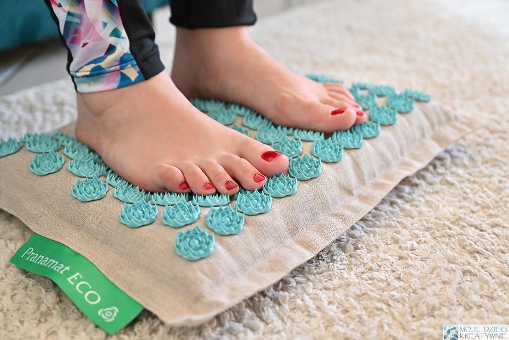 Mata do akupresury Pranamat ECO, masaż stóp