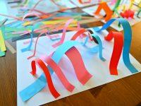 przestrzenna praca plastyczna, prace plastyczne z papieru, praca 3d z papieru, prace plastyczne z kolorowych paków papieru
