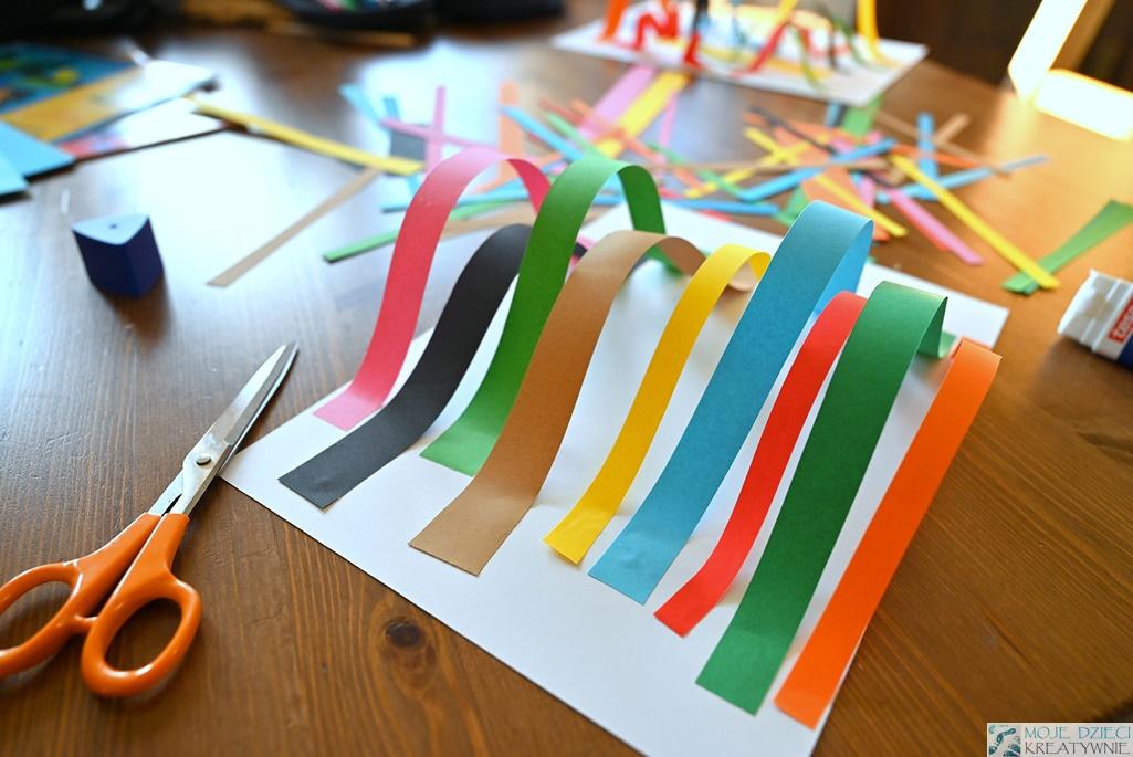 kreatywne prace plastyczne dla dzieci, przestrzenna praca plastyczna dla przedszkolaków
