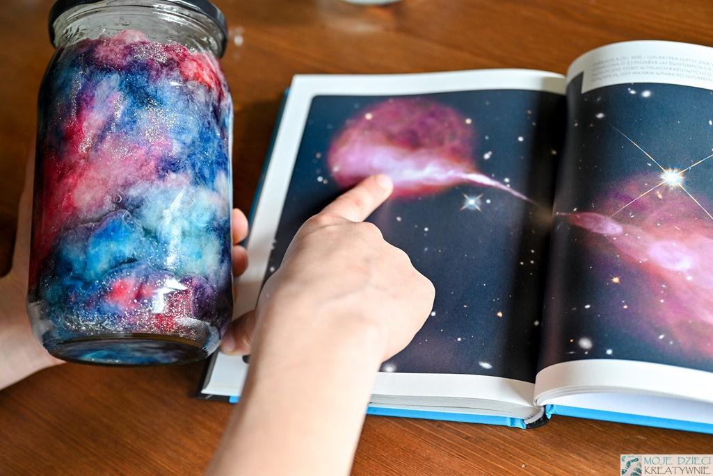 kosmos w słoiku, galaktyka w słoiku, kosmos dla dzieci, jak zrobic galaktykę w słoiku