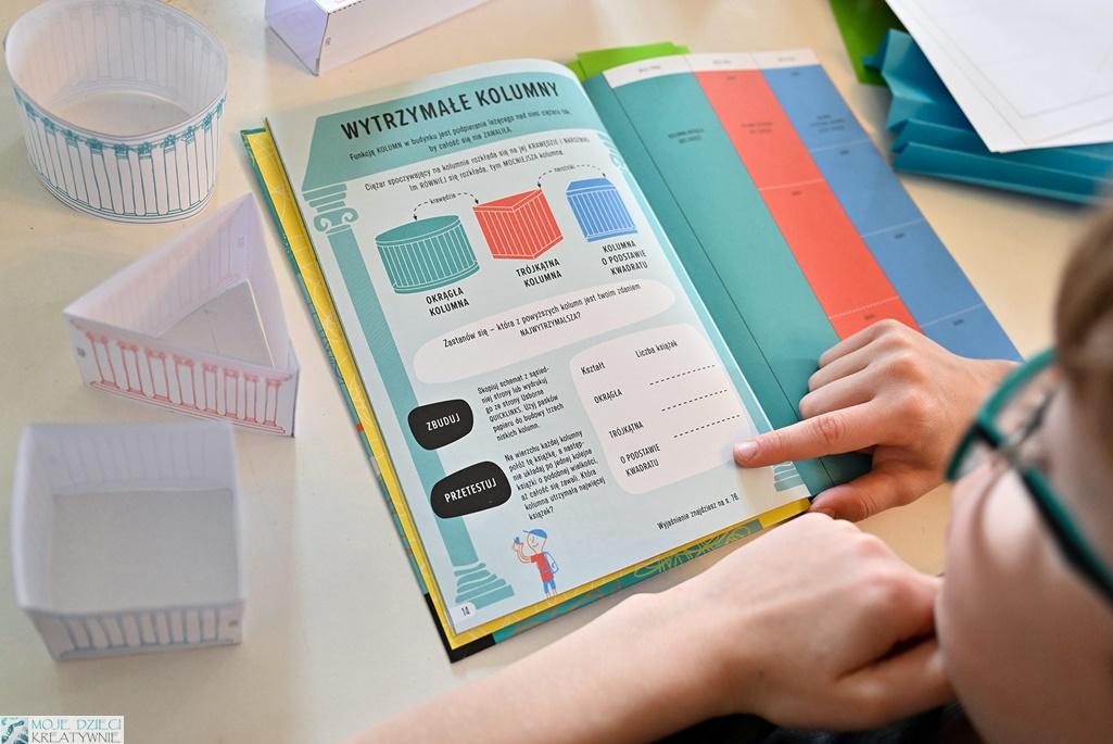 młody inżynier, notatnik, ksiażka, książki edukayjne dla dzieci, recenzje ksiażek dla dzieci