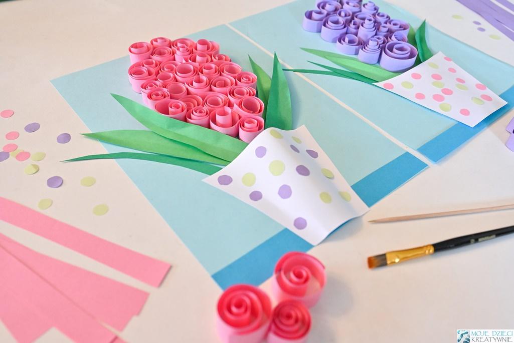 Hiacynt praca plastyczna z papieru, prace plastyczne wiosna