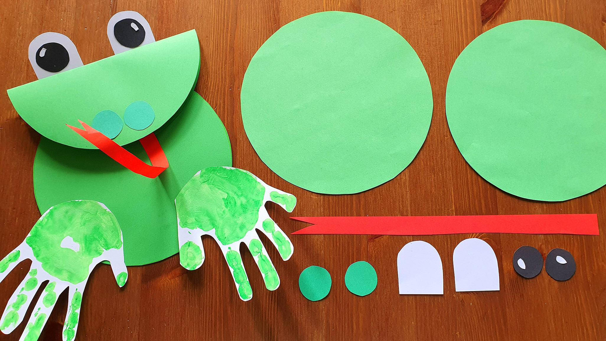 żaba praca plastyczna z papieru