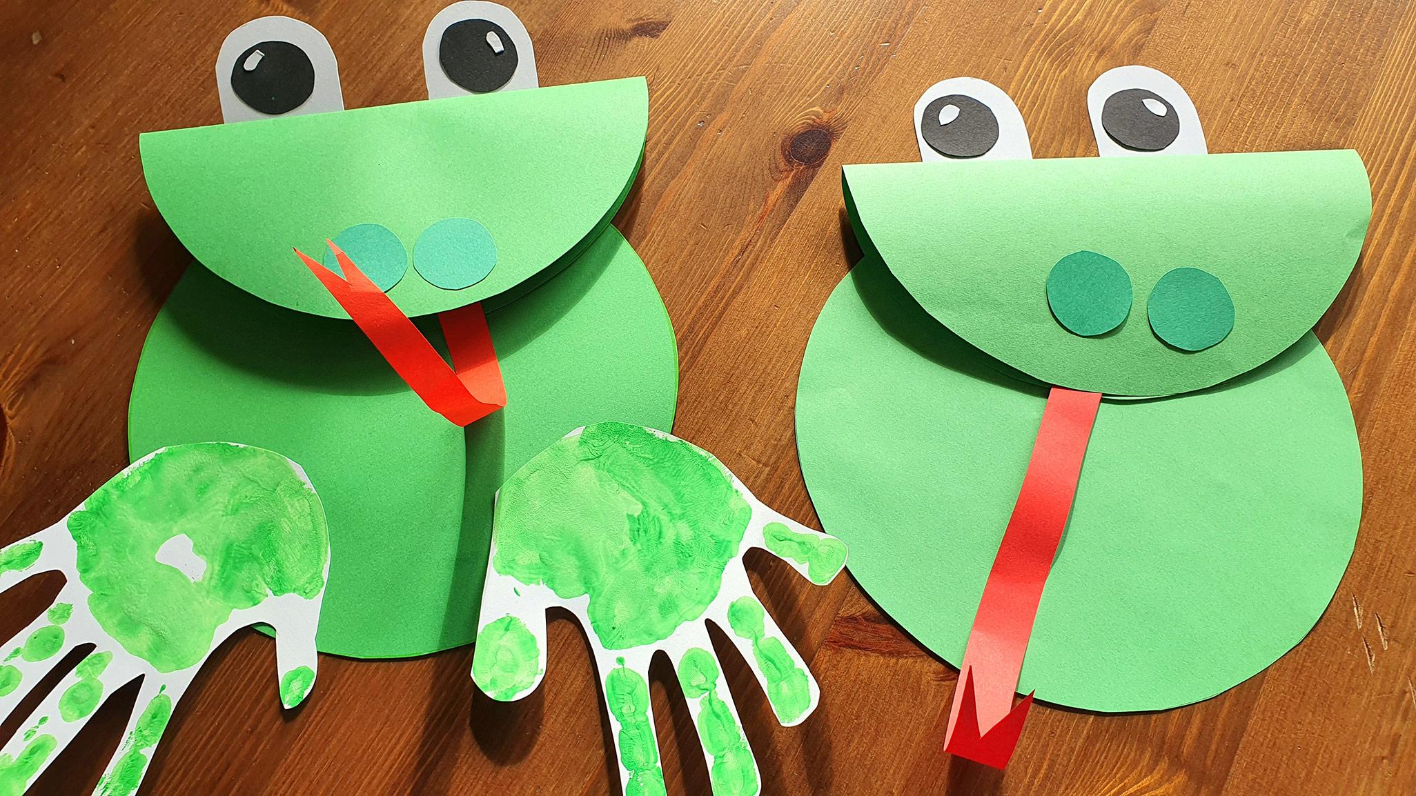 praca plastyczna wiosna, żaba z papieru, żaba praca plastyczna, ziosenne prace plastyczne, moje dzieci kreatywnie