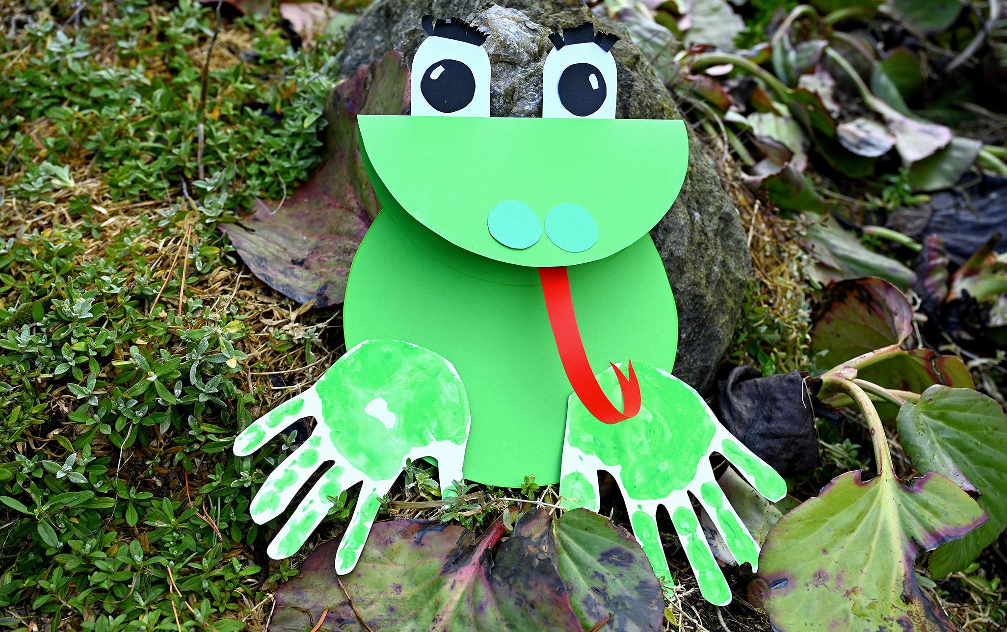 żaba z papieru praca plastyczna, wiosenne prace plastyczne