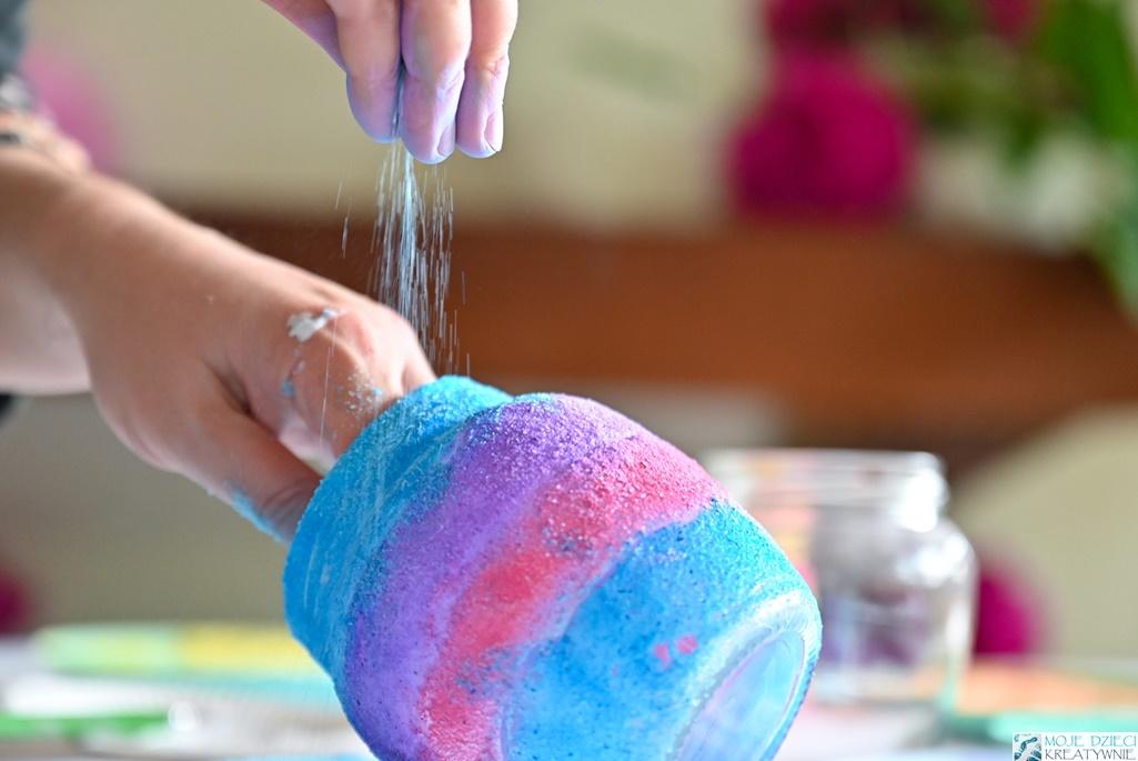 barwiona sól, kolorowa sól, jak zabarwić sól