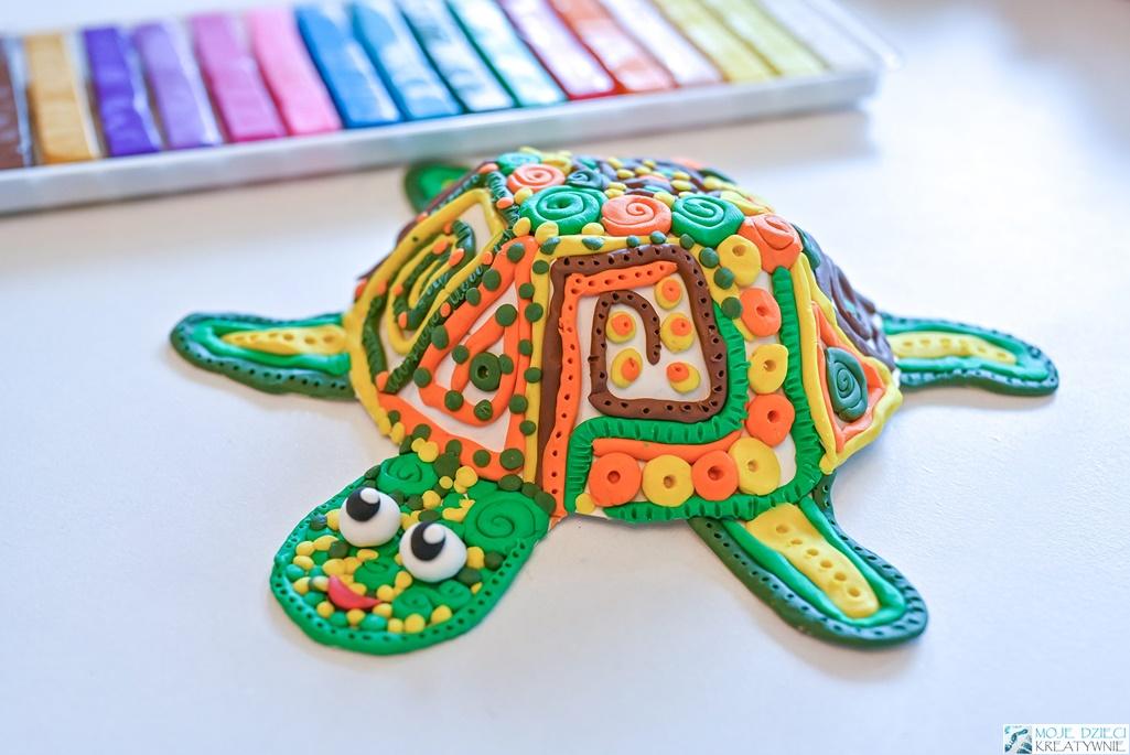 Żółw z plasteliny, żółw z papierowego talerzyka, żółw praca plastyczna, ciekawe prace plastyczne dla dzieci, moje dzieci kreatywnie
