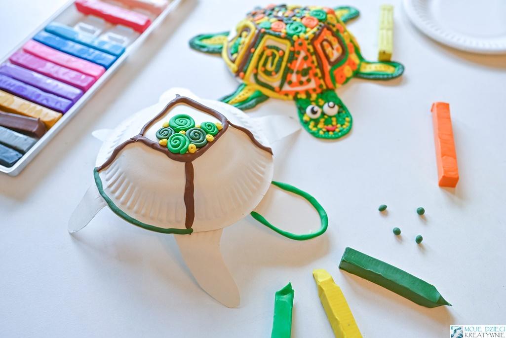 co można zrobić z plasteliny, prace plastyczne z plasteliny, moje dzieci kreatywnie, ciekawe prace plastyczne, żółw z plasteliny