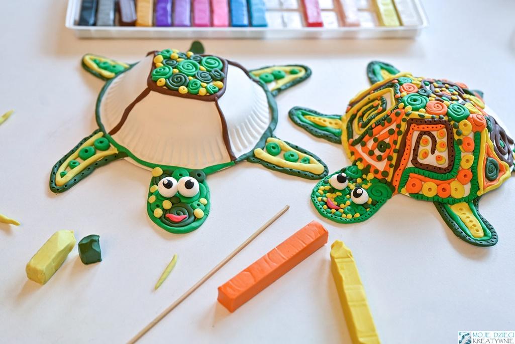 kreatywne pomysły na prace plastyczne dla dzieci, plastyka, moje dzieci kreatywnie, żółwie z plasteliny