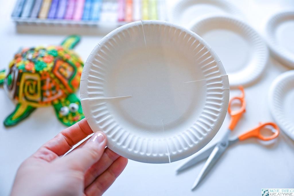 co można zrobić z papierowego talerzyka, pomysły na prace plastyczne z papierowego talerzyka