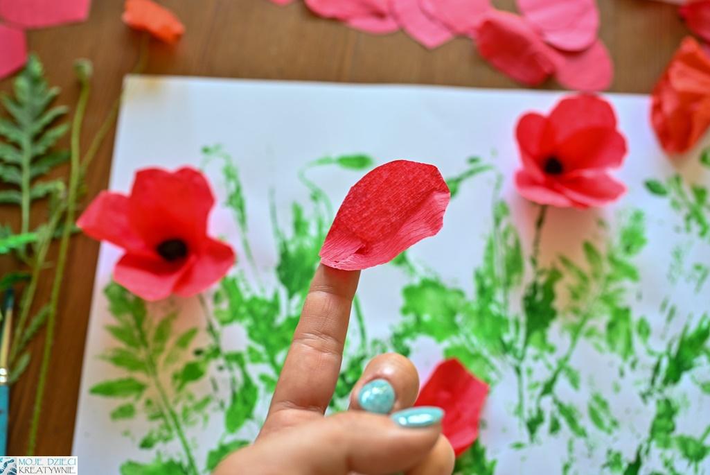 jak zrobic płatki kwiatów z bibuły