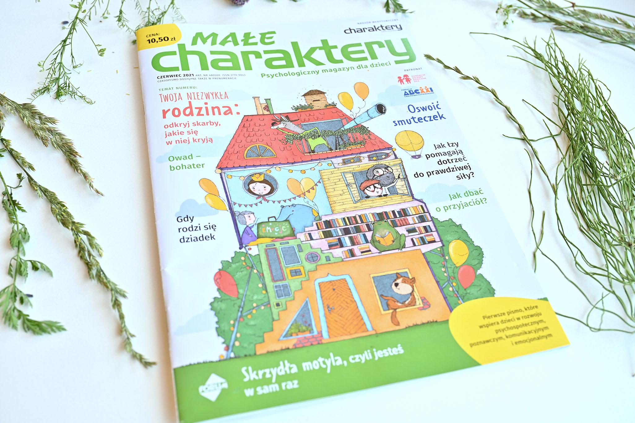 Małe Charaktery magazyn psychologiczny dla dzieci, czasopismo dla dzieci