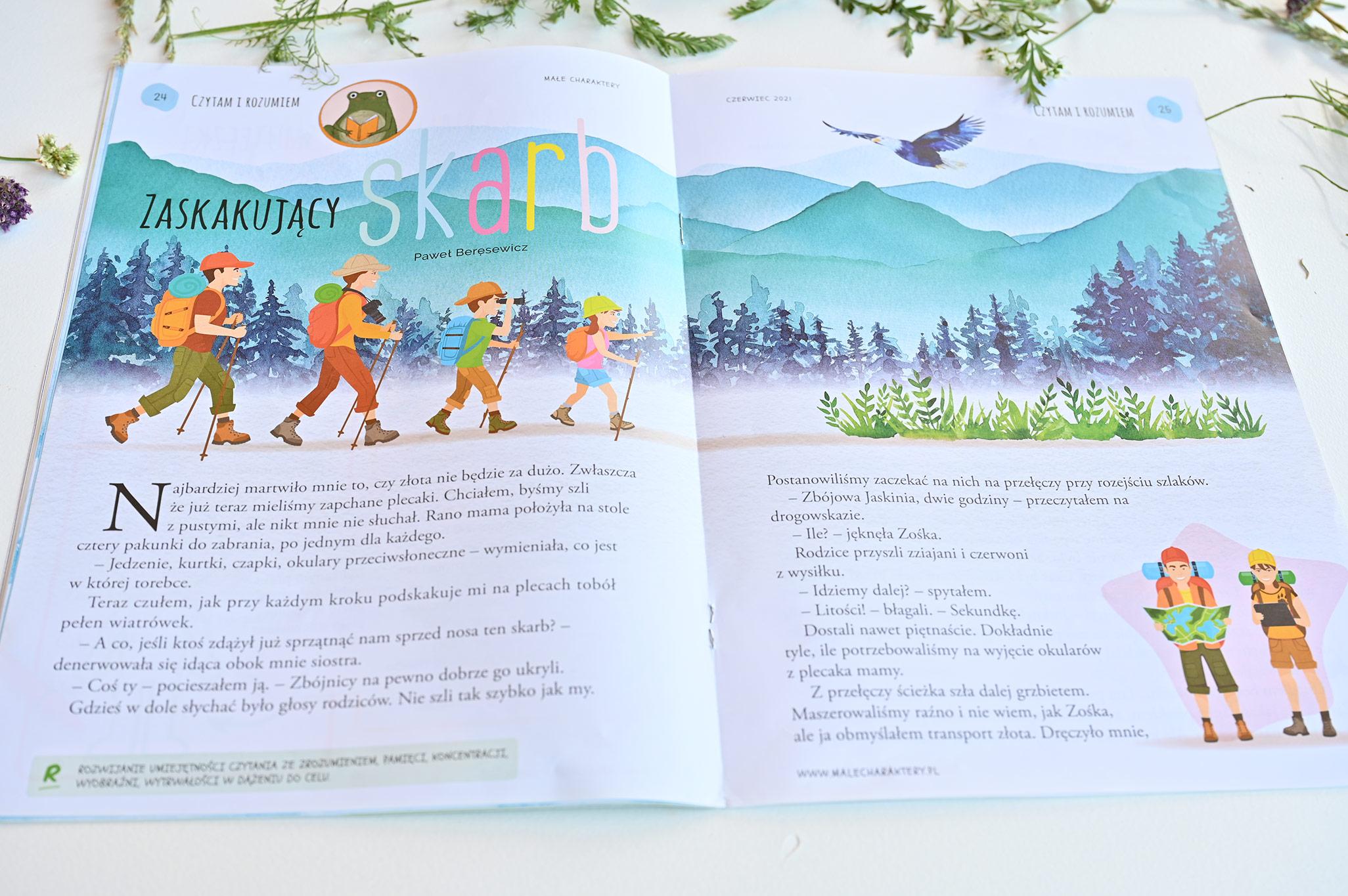 Małe Charaktery, czytanie ze zrozumieniem, czasopismo psychologiczne dla dzieci, magazyn psychologiczny dla dzieci