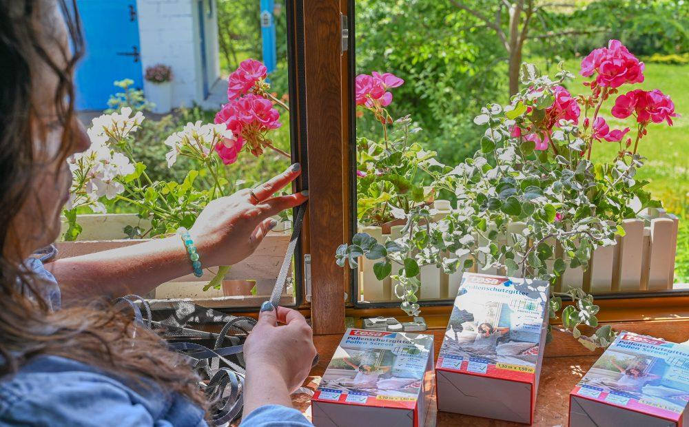 Moskitiera na okno antyalergiczna przeciw pyłkom i owadom