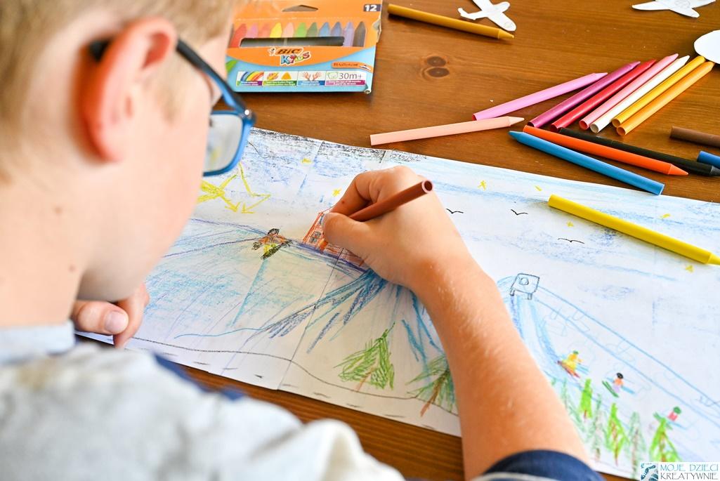 nauka rysownia, kredki dla dzieci, jak wybrać kredki dla dzieci