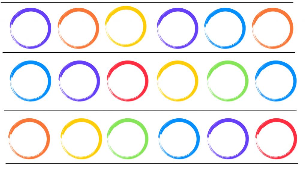 szablony kółek, międzynarodowy dzień kropki