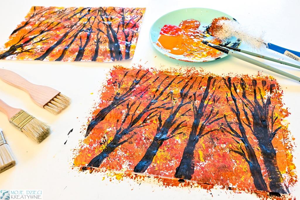 jesienny las praca plastyczna