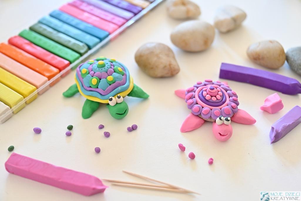 Zwierzątka z plasteliny, figurki z plasteliny, moje dzieci kreatywnie, prace plastyczne w przedszkolu