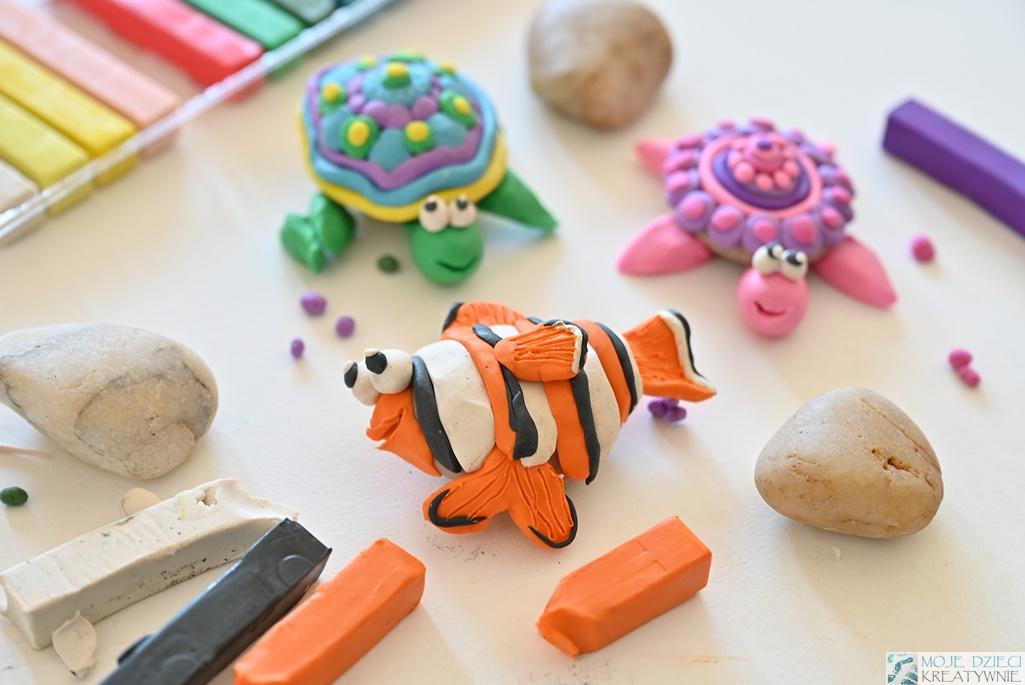figurki z plasteliny, rybka nemo, prace plastyczne dla dzieci, moje dzieci kreatywnie