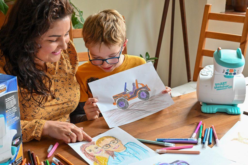 projektor do rysowania dla dzieci krok po kroku, smart sketcher 2.0